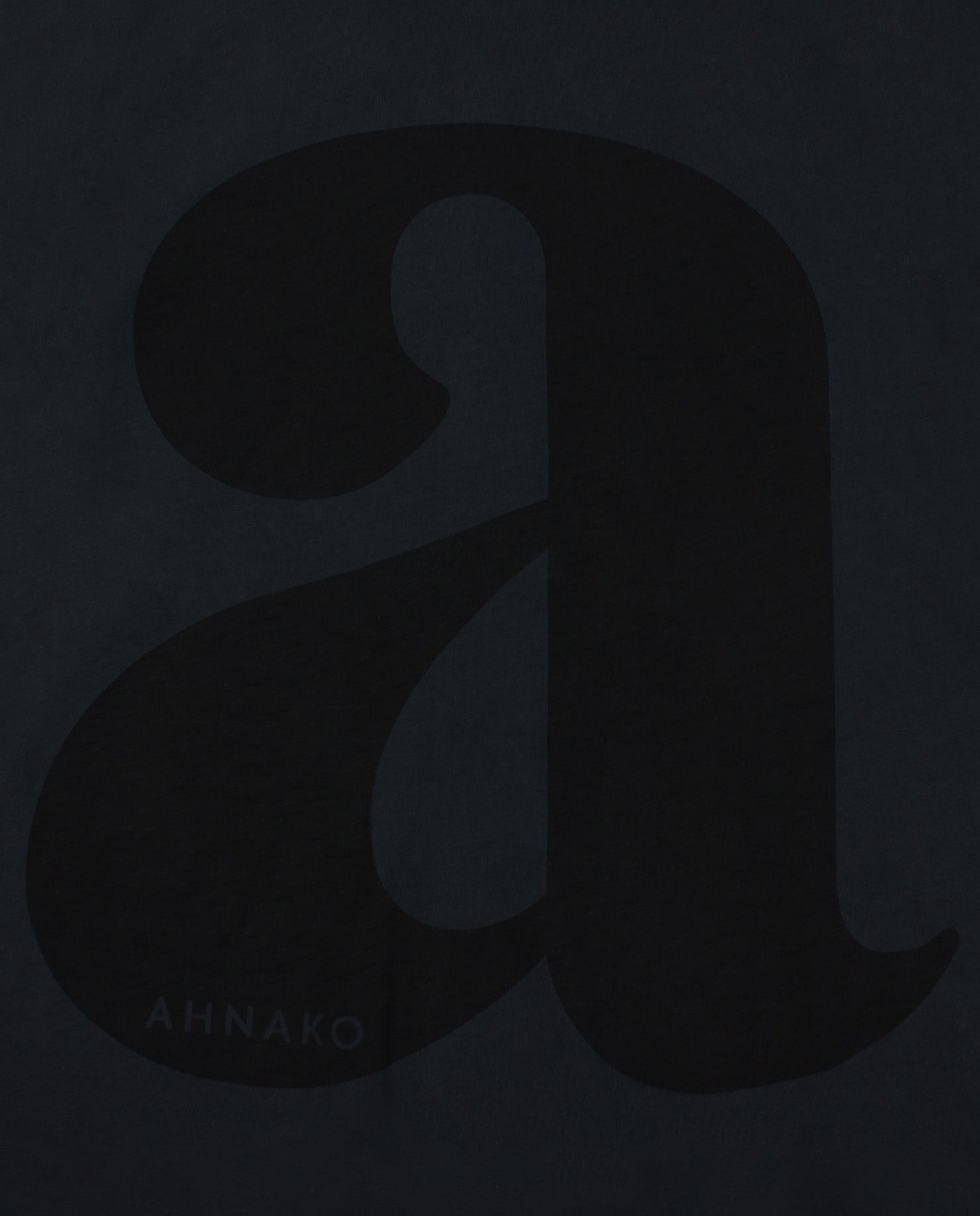 "Lowercase ""a"" - Vintage Black"