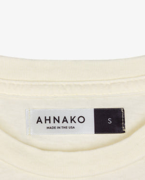 Ahnako Mountains - Cream T-shirt - Clothing Tag