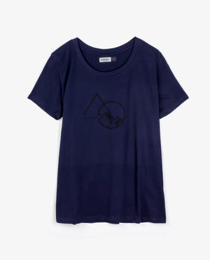 Ahnako Women's Mountains - Midnight T-shirt