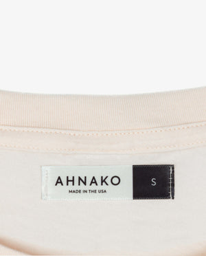 Ahnako Women's Mountains - Rose Quartz T-shirt - Clothing Tag