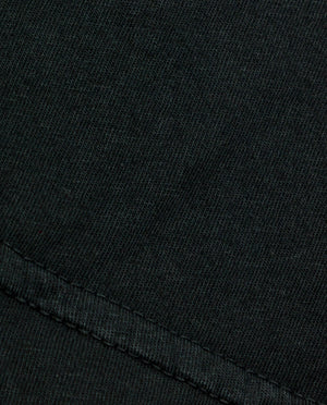 "Lowercase ""a"" - Vintage Black T-shirt - Fabric Close Up"
