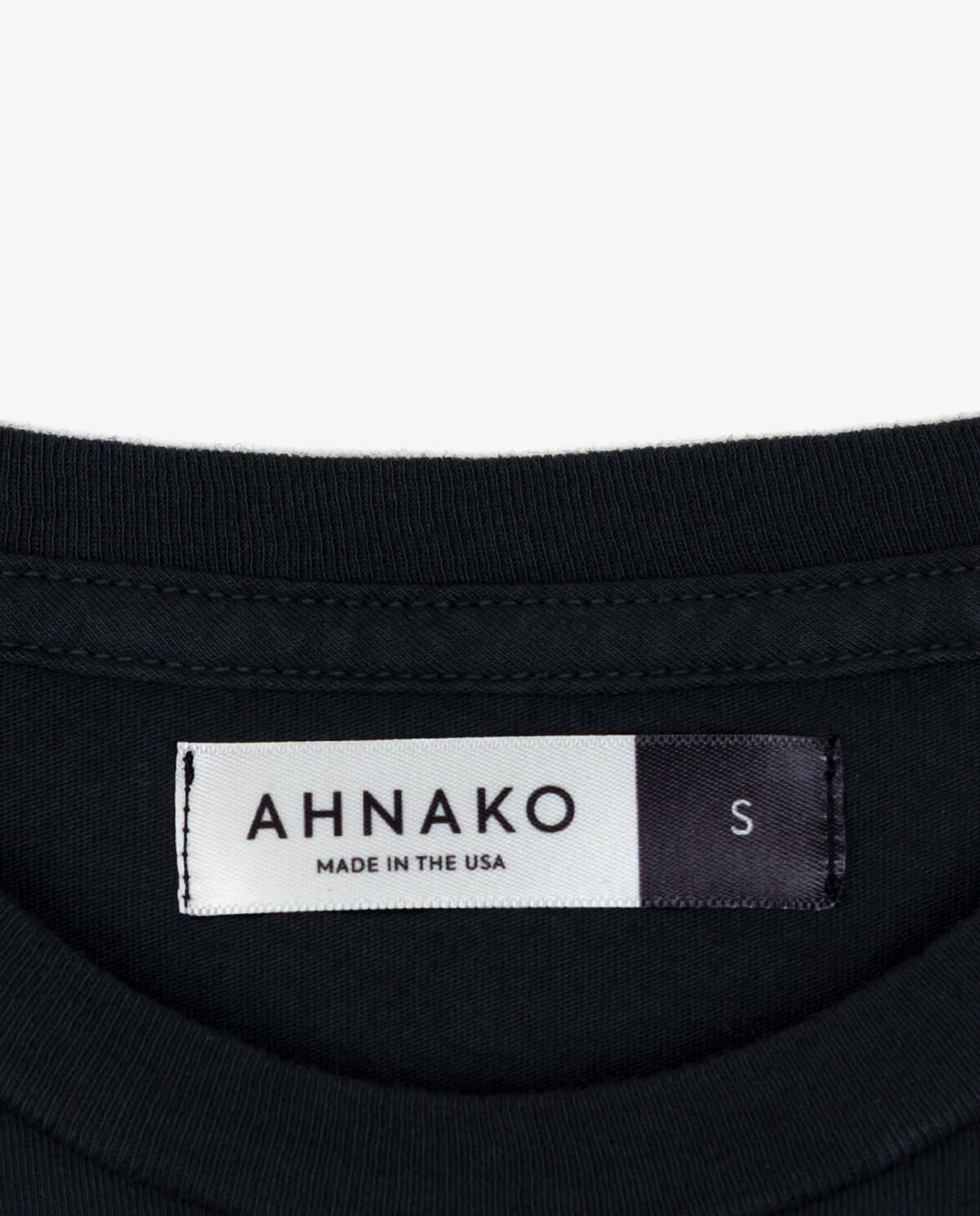 "Ahnako Women's Lowercase ""a"" - Vintage Black T-shirt - Clothing Tag"