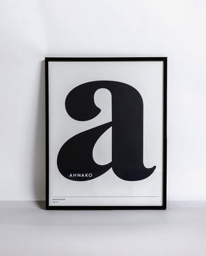 "Ahnako Lowercase ""a"" Poster"