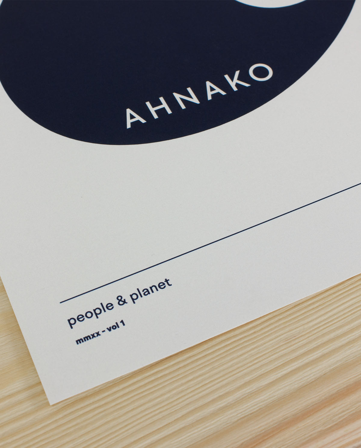 Ahnako lowercase a poster close up