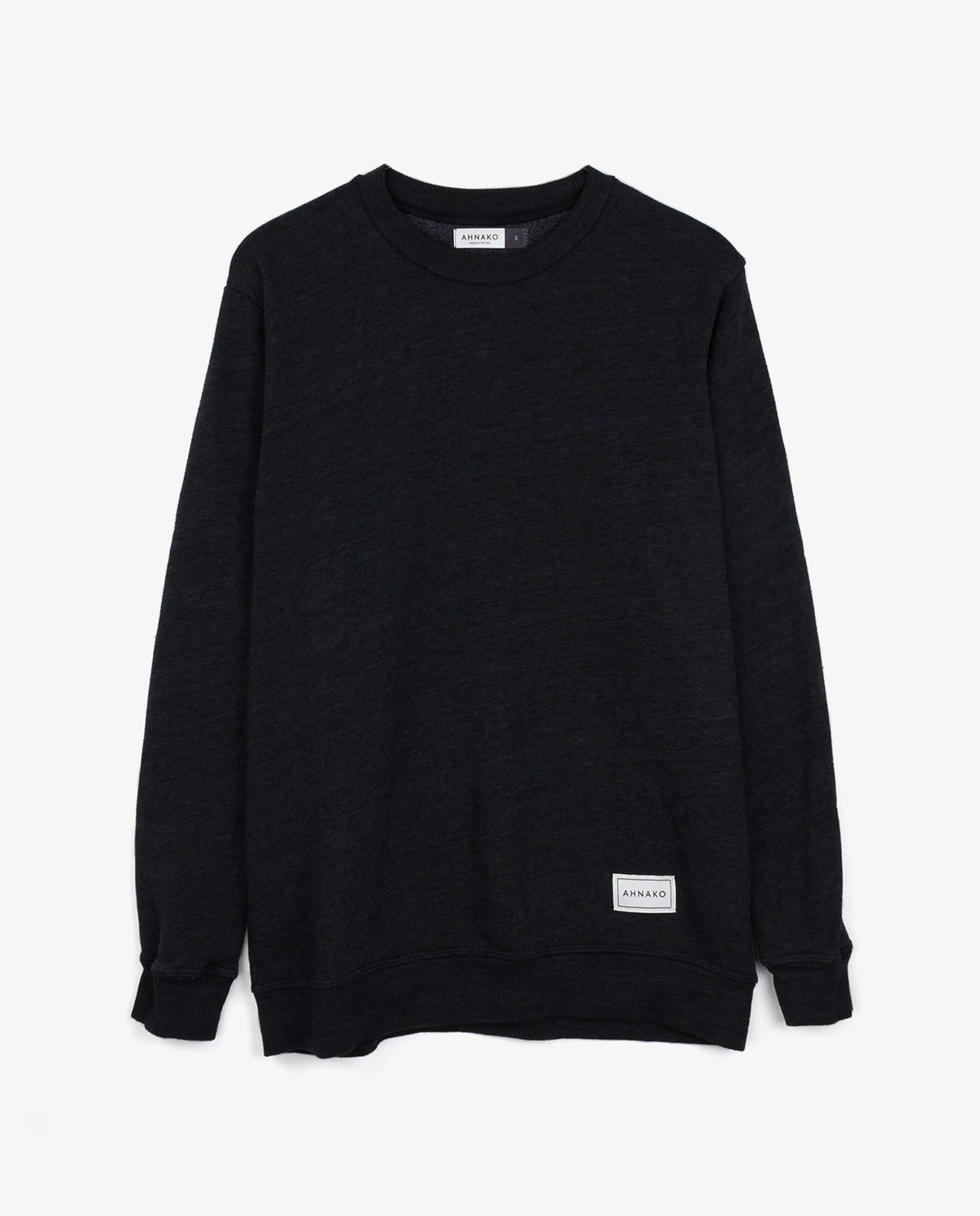 Ahnako Black Sweater with Logo Patch