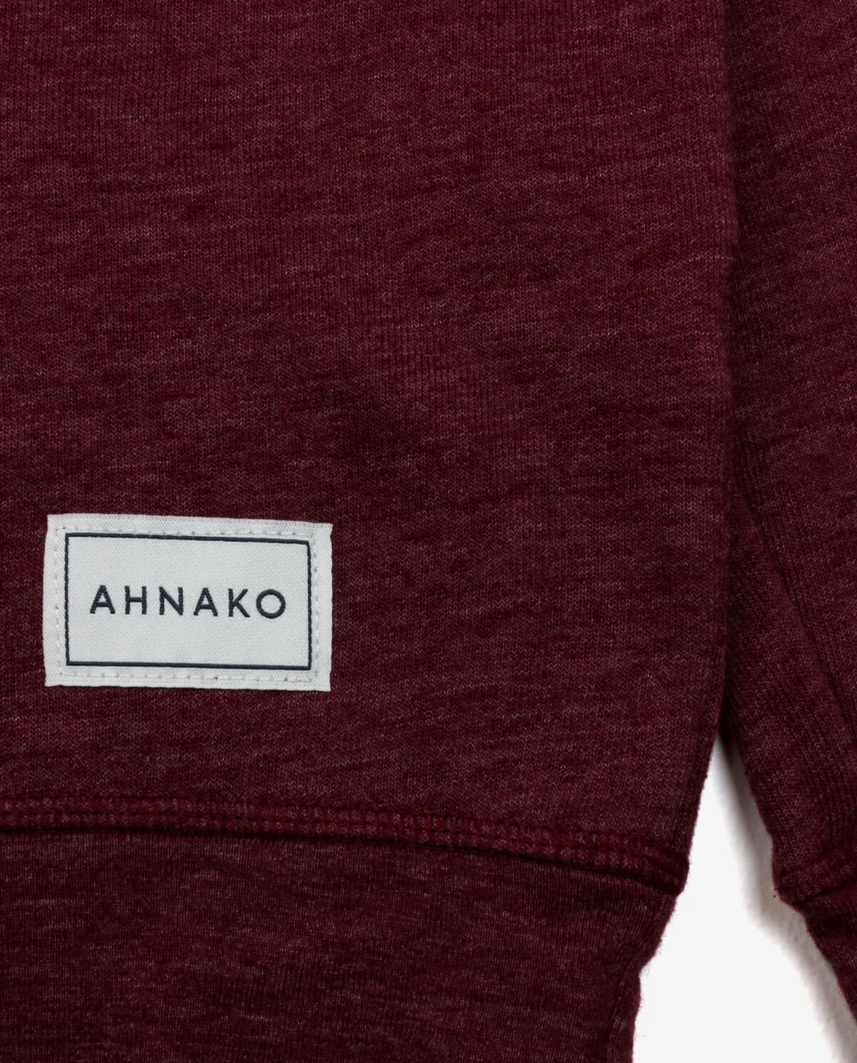 Ahnako Burgunday Sweater with Logo Patch - Patch Close Up