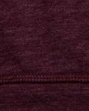 Ahnako Burgunday Sweater with Logo Patch - Fabric Close Up