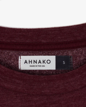 Ahnako Burgunday Sweater with Logo Patch - Clothing Tag