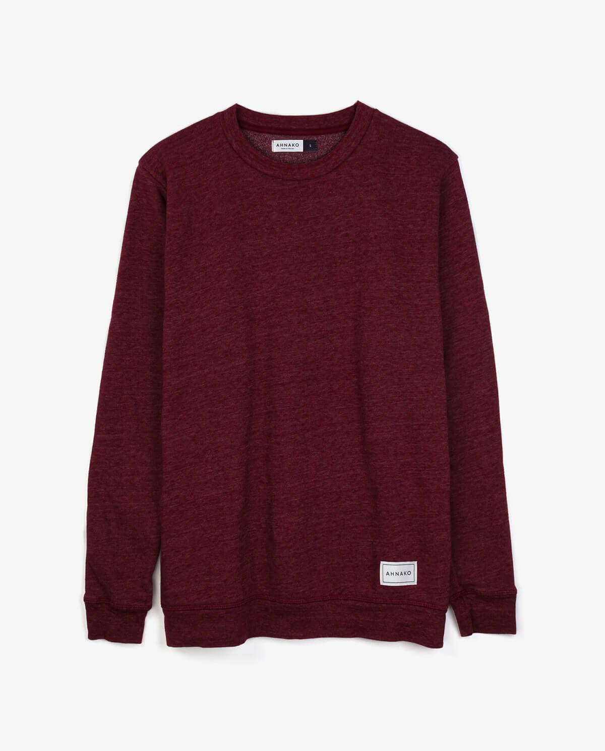 Ahnako Burgunday Sweater with Logo Patch