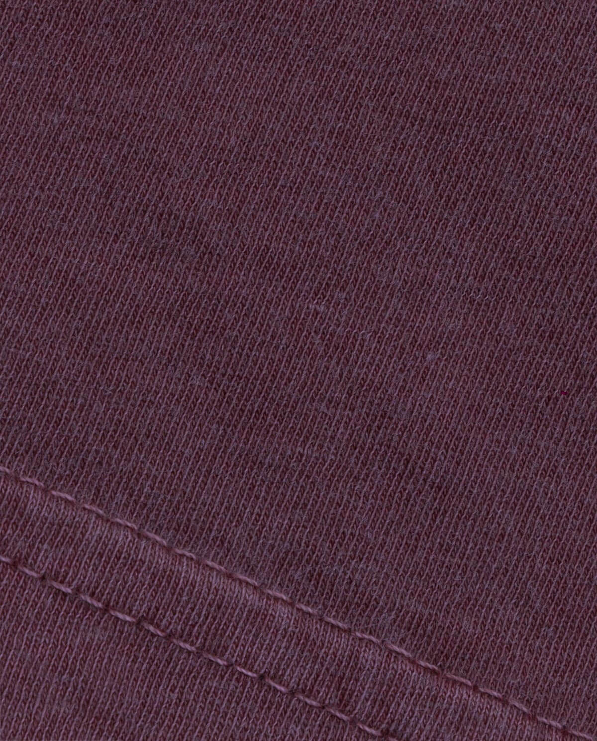 Ahnako Basic Tee Shirt - Pomegrante - Fabric Close Up