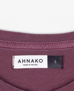 Ahnako Basic Tee Shirt - Pomegrante - Clothing Tag