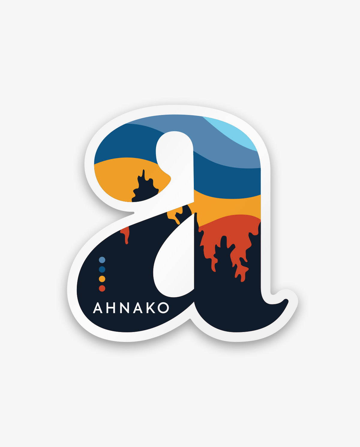 "Sunset ""a"" (sticker)"