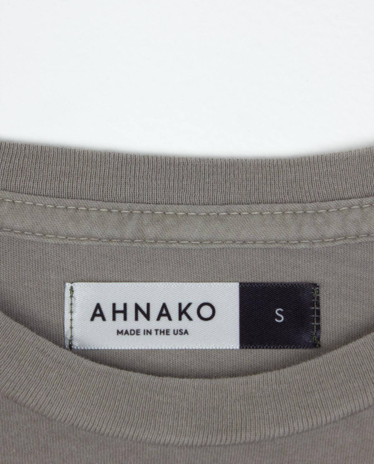 Ahnako Basic Tee Shirt - Suva Grey - Clothing Tag