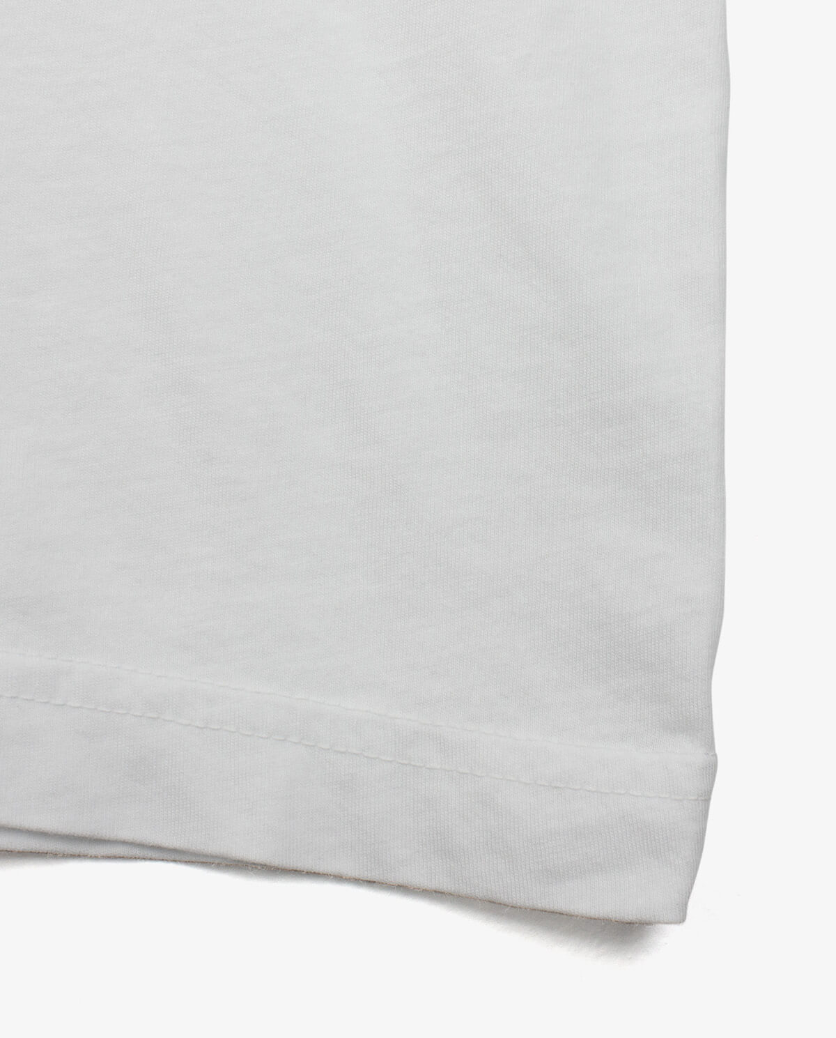 Ahnako Basic Tee Shirt - White - Hem