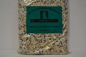 Preferred Exotic Parrot Seed 4lb - Feathered Follies