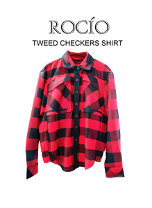 Tweed Checkers Shirt