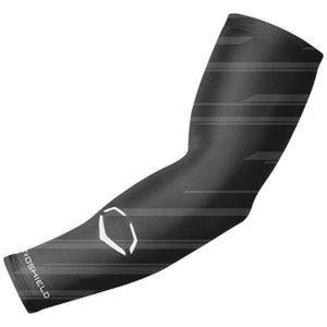 EVOSHIELD-SPEED STRIPE COMPRESSIVE ARM SLEEVE-YOUTH-BLACK