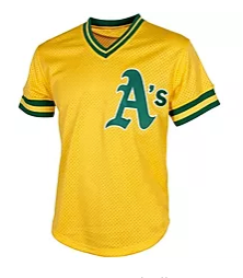 Classic Retro Yellow A's Jersey
