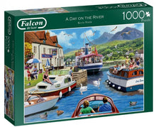 Afbeelding in Gallery-weergave laden, Falcon Legpuzzel A Day On The River 1000 Stukjes