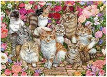 Afbeelding in Gallery-weergave laden, Falcon Legpuzzel Floral Cats 1000 Stukjes
