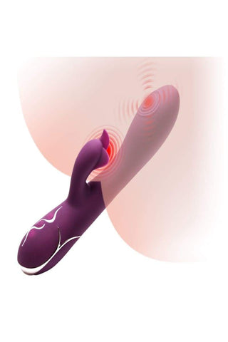 Vibrating Rabbit Dildo-Rechargeable-Waterproof