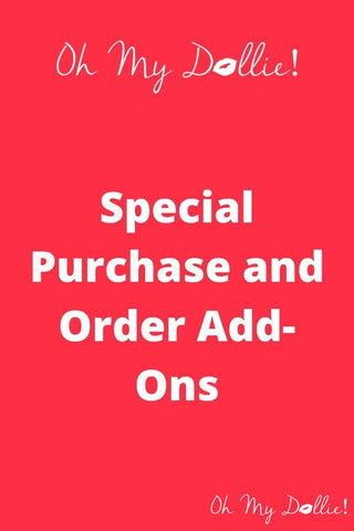 Special Order/Add-on