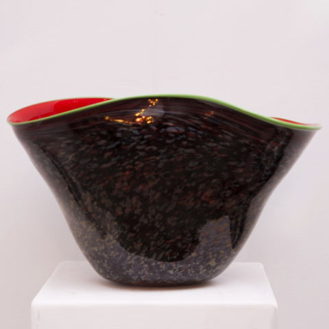 Black and Red Bowl