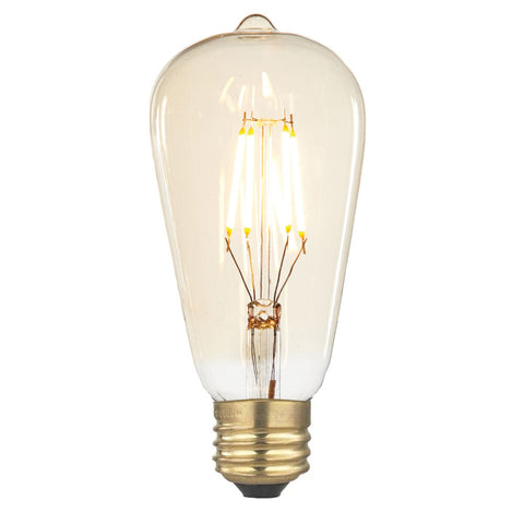 Smoked LED Pear Non-Dimmable
