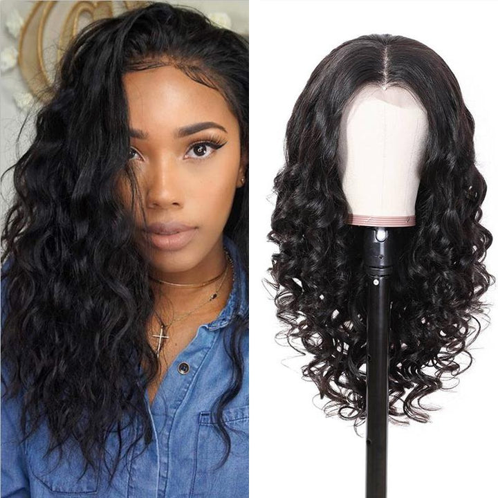 Human Hair Wigs Natural Wave 360 Lace Frontal Wigs