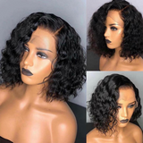 Human Hair Bob Wigs Deep Wave Lace Front Wigs