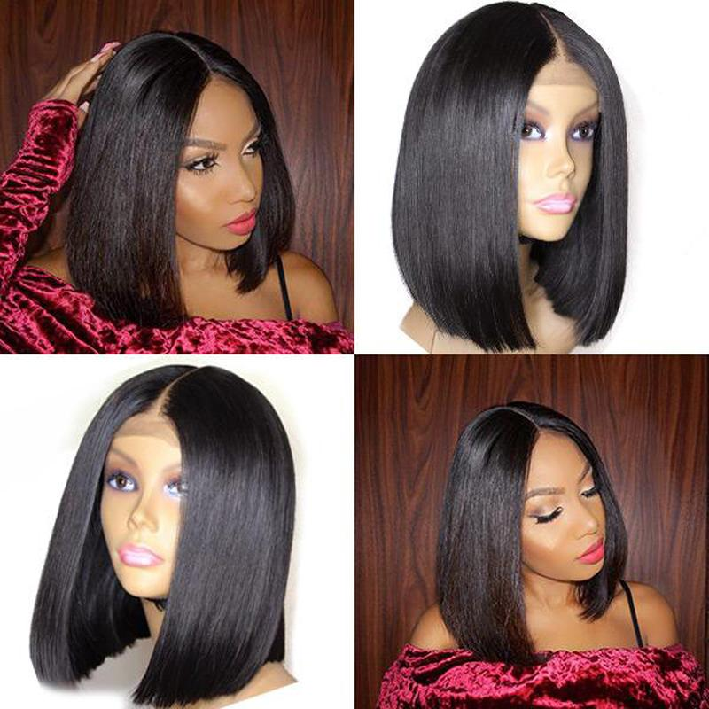 Human Hair Bob Wigs Straight Lace Front Wigs
