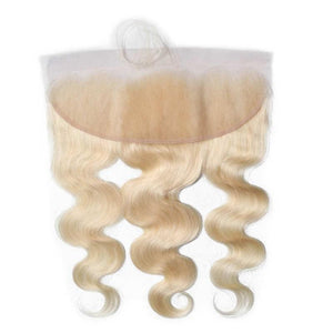 Virgin Hair Body Wave Lace Frontal with Baby Hair (#613 Bleach Blonde)