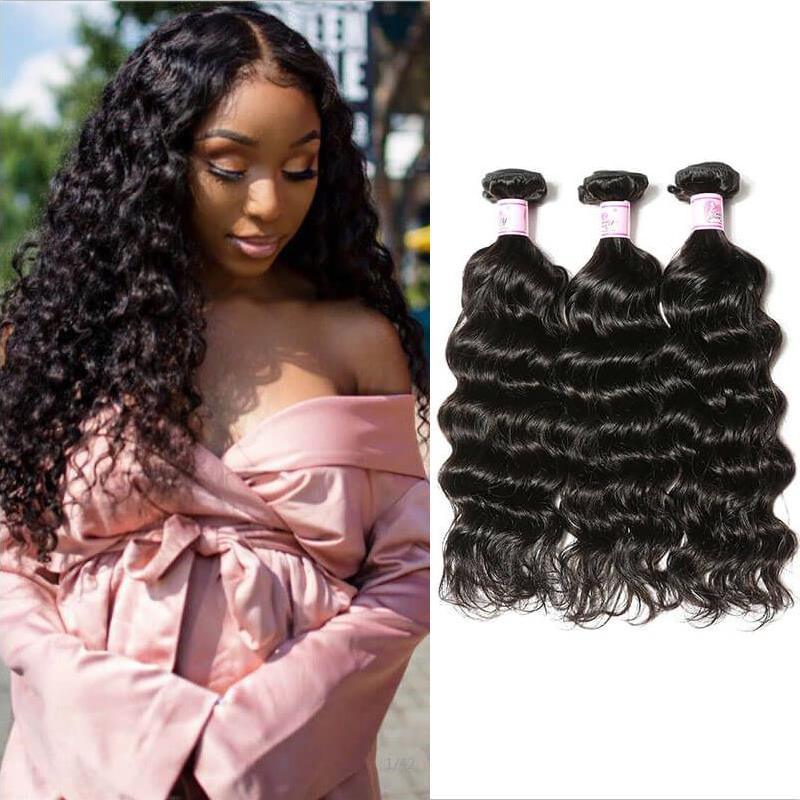 Brazilian Virgin Hair Weave 3 Bundles Deep Wave Hair