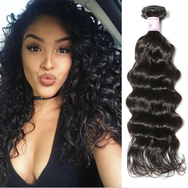 Brazilian Virgin Hair Weave Bundles Deep Wave Hair