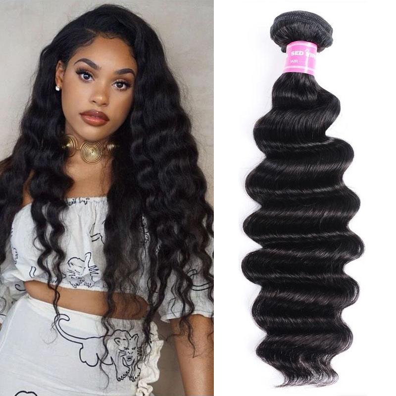Brazilian Virgin Hair Weave Bundles Loose Deep Hair