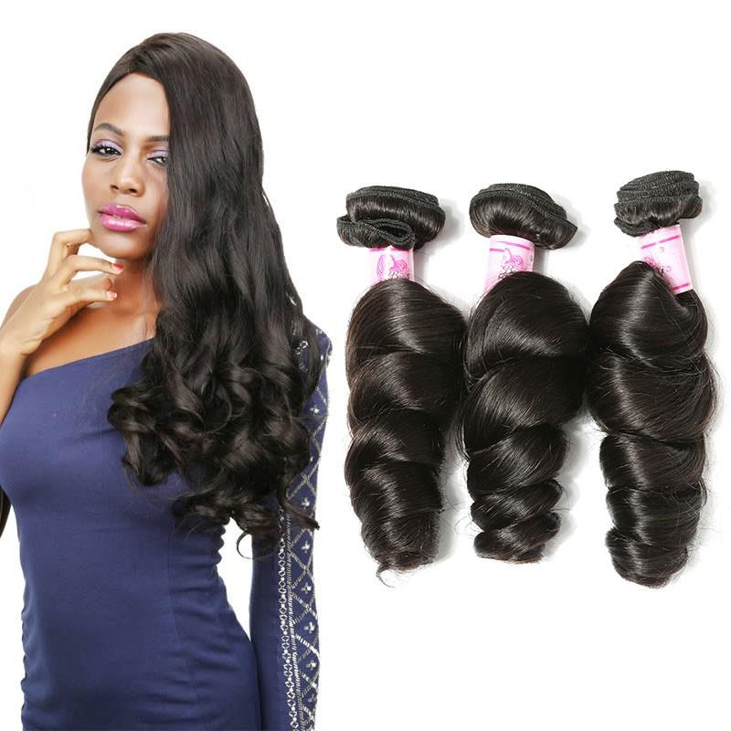 Brazilian Virgin Hair Weave 3 Bundles Loose Wave Hair