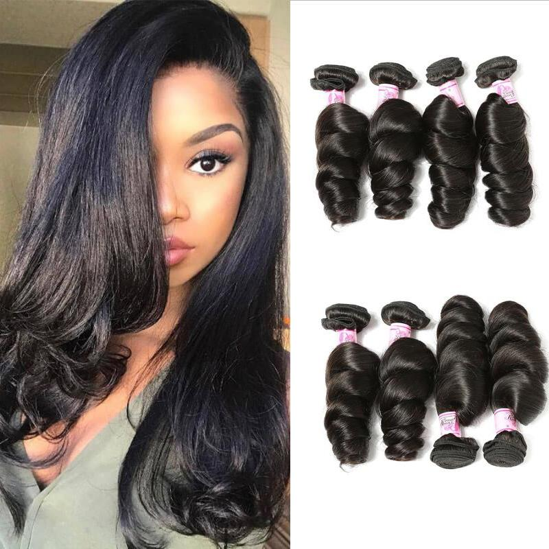 Brazilian Virgin Hair Weave 4 Bundles Loose Wave Hair