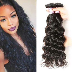 Brazilian Virgin Hair Weave 3 Bundles Natural Wave Hair