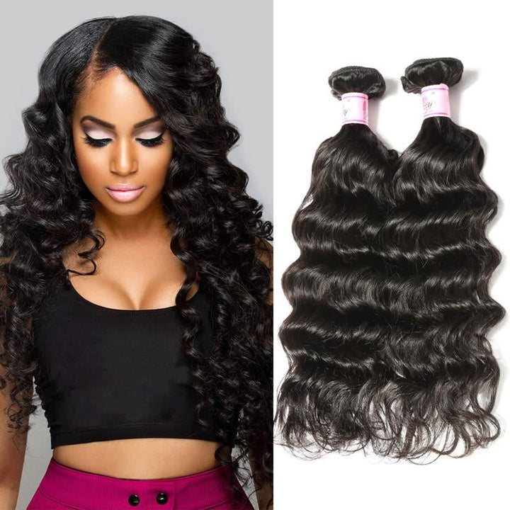 Brazilian Virgin Hair Weave Bundles Natural Wave Hair
