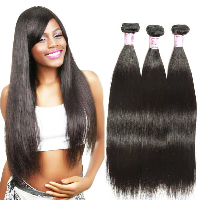 Brazilian Virgin Hair Weave 3 Bundles Straight Hair
