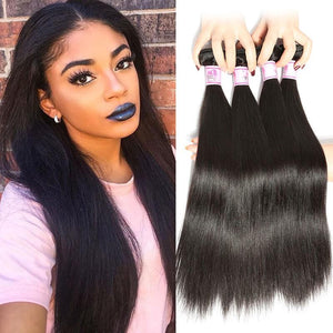 Brazilian Virgin Hair Weave 4 Bundles Straight Hair