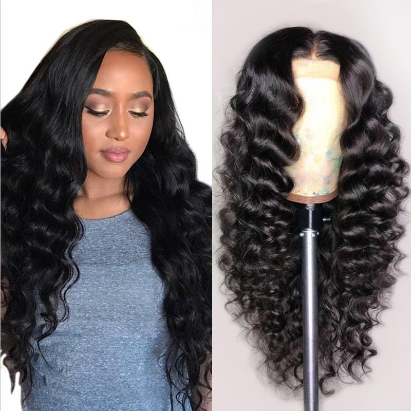 Human Hair Wigs Loose Deep Wave Full Lace Wigs