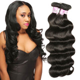 Indian Virgin Hair Weave 3 Bundles Body Wave Hair 100% Human Hair
