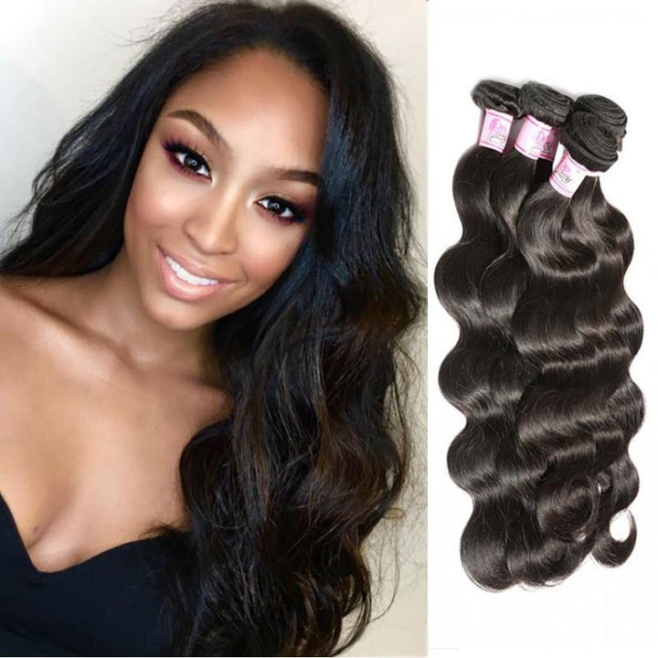 Indian Virgin Hair Weave 4 Bundles Body Wave Hair