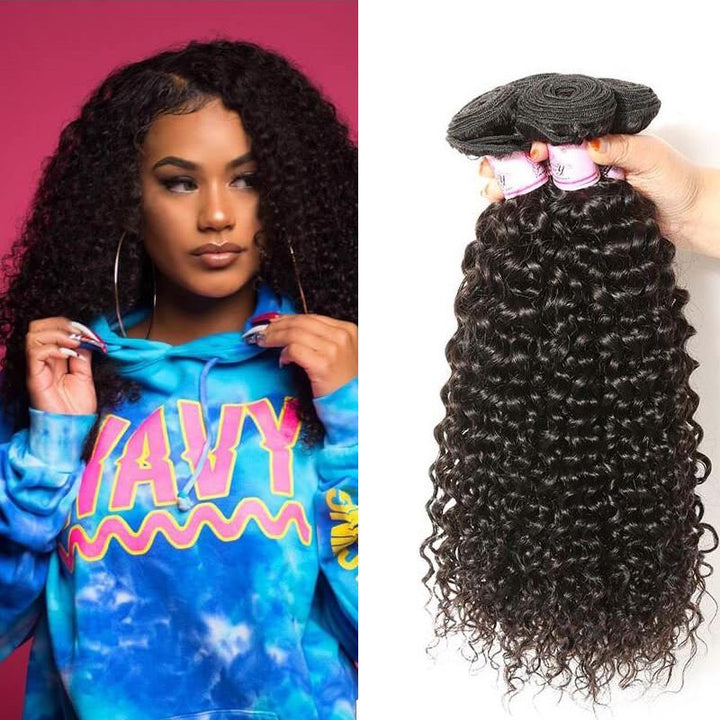Indian Virgin Hair Weave 4 Bundles Curly Hair