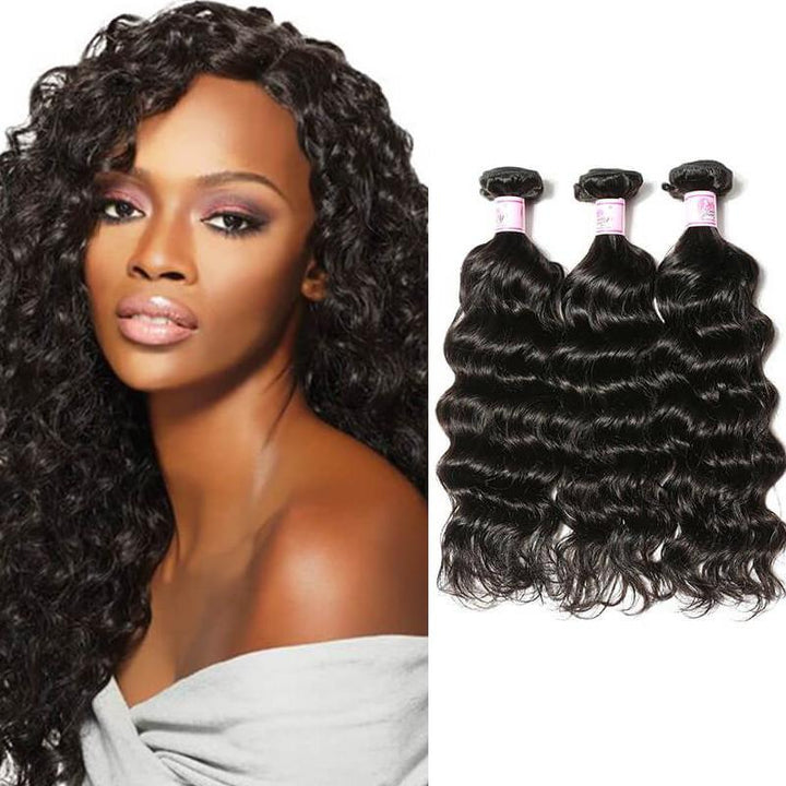 Indian Virgin Hair Weave 3 Bundles Deep Wave Hair