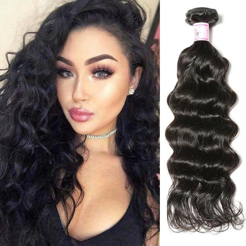 Indian Virgin Hair Weave Bundles Deep Wave Hair