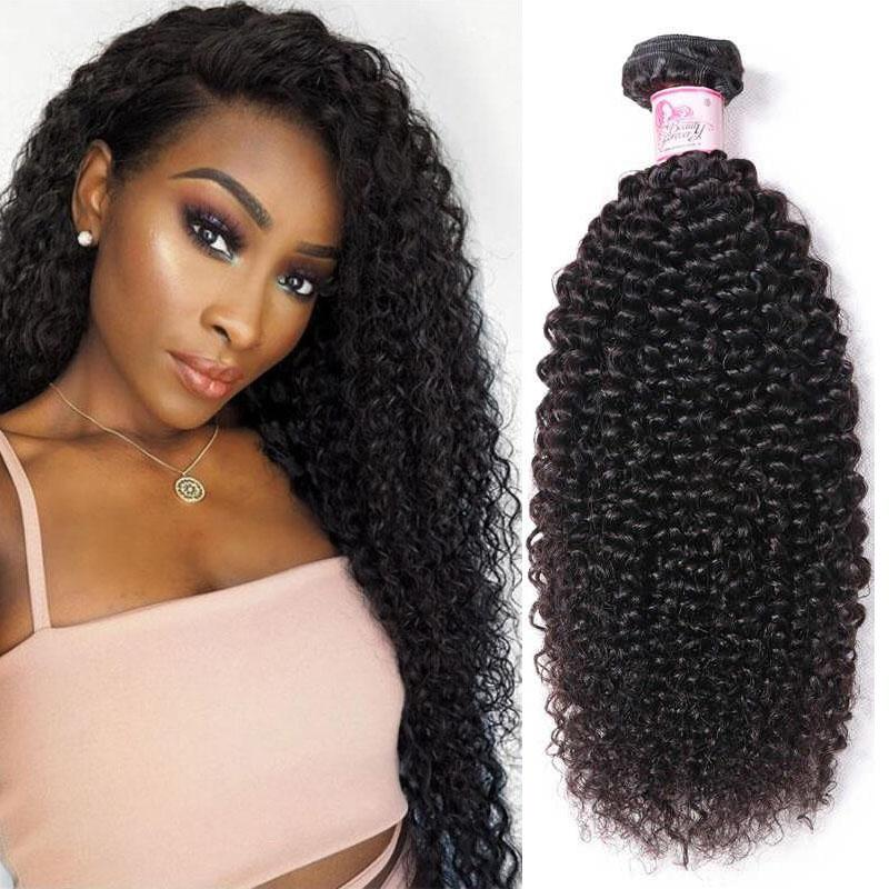 Indian Virgin Hair Weave Bundles Kinky Curly Hair
