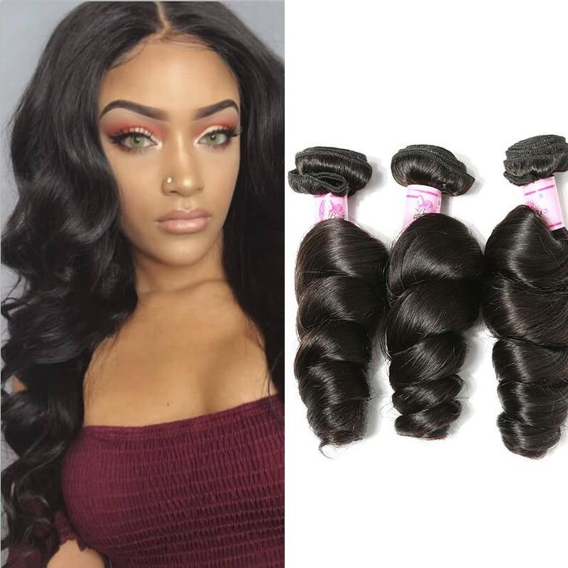 Indian Virgin Hair Weave 3 Bundles Loose Wave Hair
