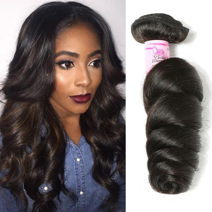 Indian Virgin Hair Weave Bundles Loose Wave Hair